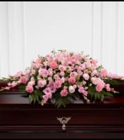 shades of pink casket spray