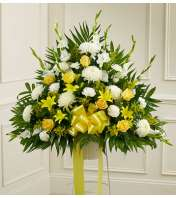 Heartfelt Sympathies Yellow Basket