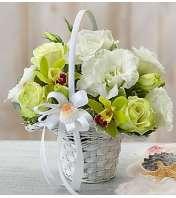 Beach Wedding Flower Girl Arrangement