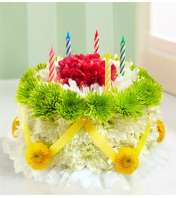 Birthday Flower Cake ® - Green and Yellow