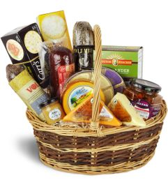 Premium Gourmet Meat & Cheese Basket