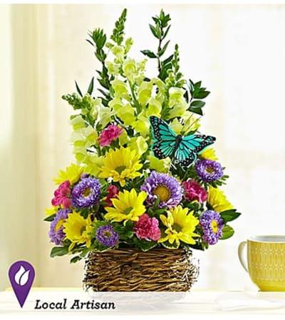 Springtime Bird's Nest of Flowers™