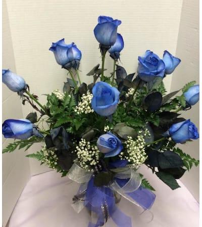 dozen blue roses salem or florist