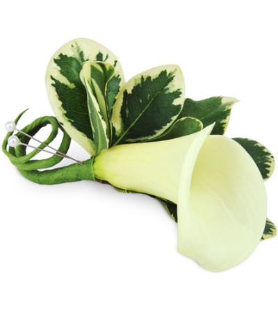 Simple Calla Boutonniere