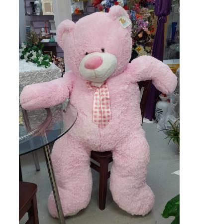 Huggable Jumbo Pink Teddy Bear