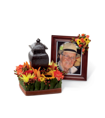 The FTD® Glorious Tribute™ Arrangement with Sunflowers