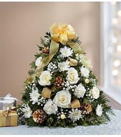 Gold Trim Holiday Tree