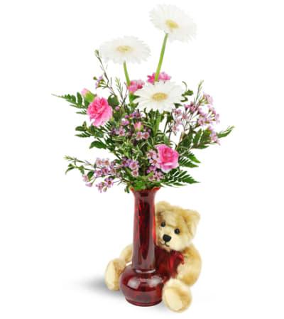 Darling Daisies™ with Plush Bear