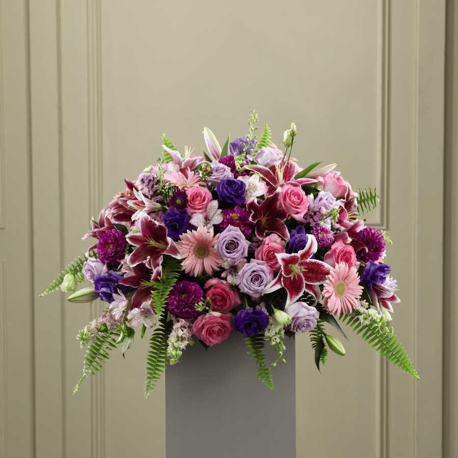 The Ftd 174 Fare Thee Well Pedestal Arrangement Bowmanville On Florist