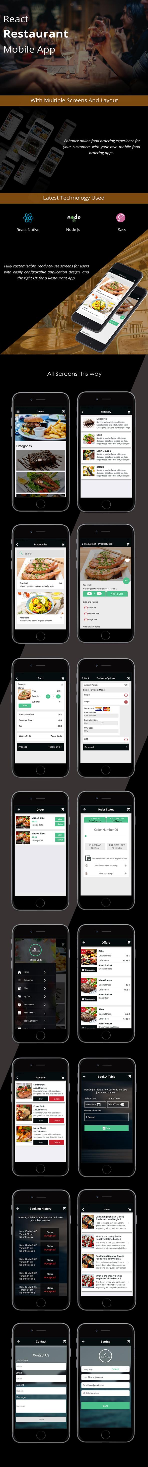 React Native Restaurant Mobile App - 2