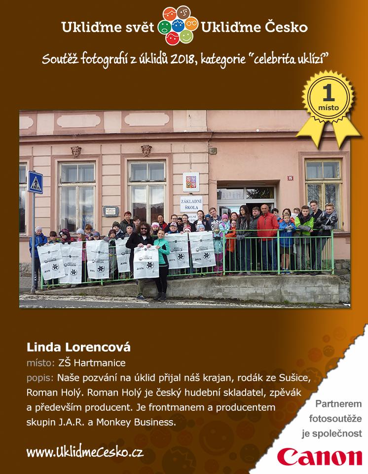 1. místo - Linda Lorencová