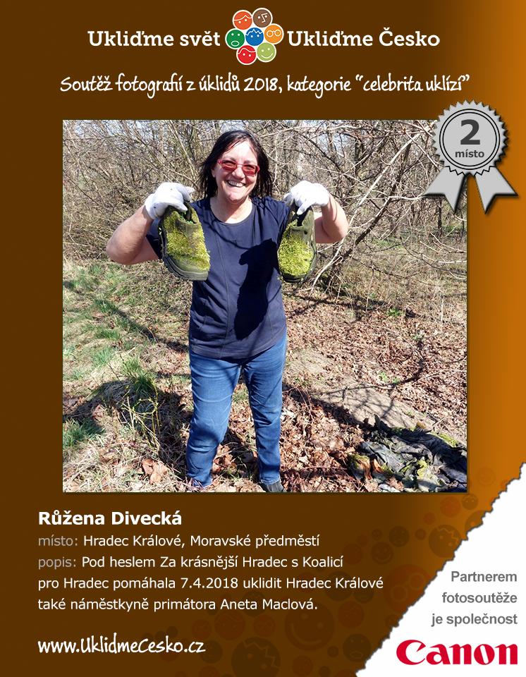 2. místo - Růžena Divecká