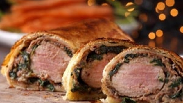 Christmas spiced pork and chestnut wellington Good Food Channel
