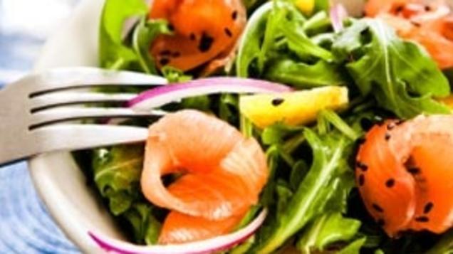 Salmon Carpaccio With a Wasabi