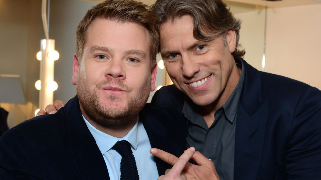 Photo of John Bishop & his friend   -