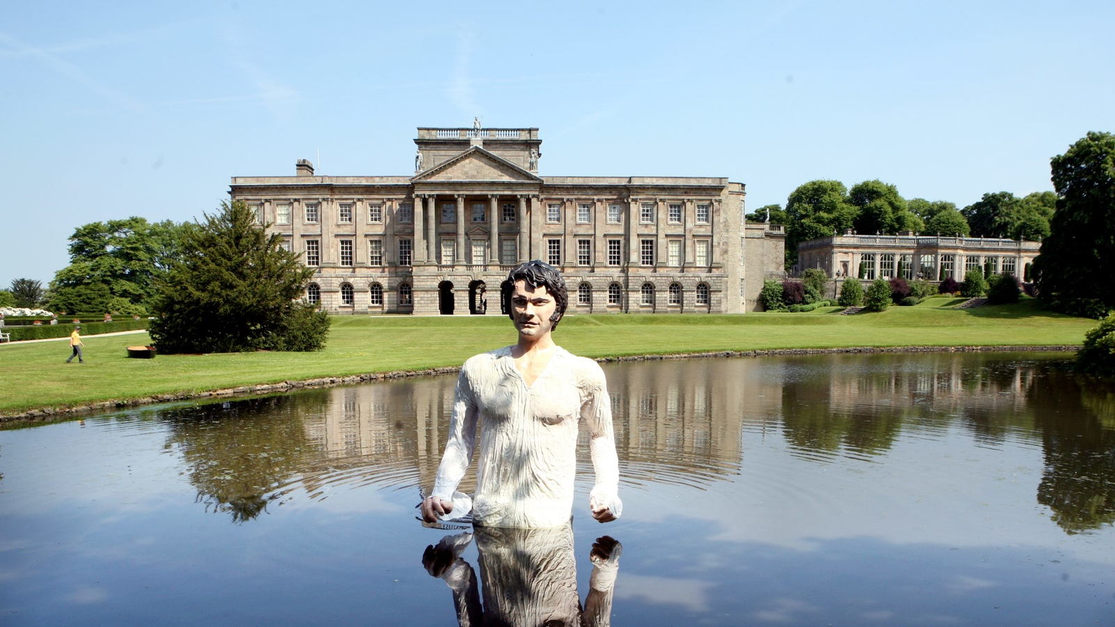 Mr Darcy in Lyme Park ...