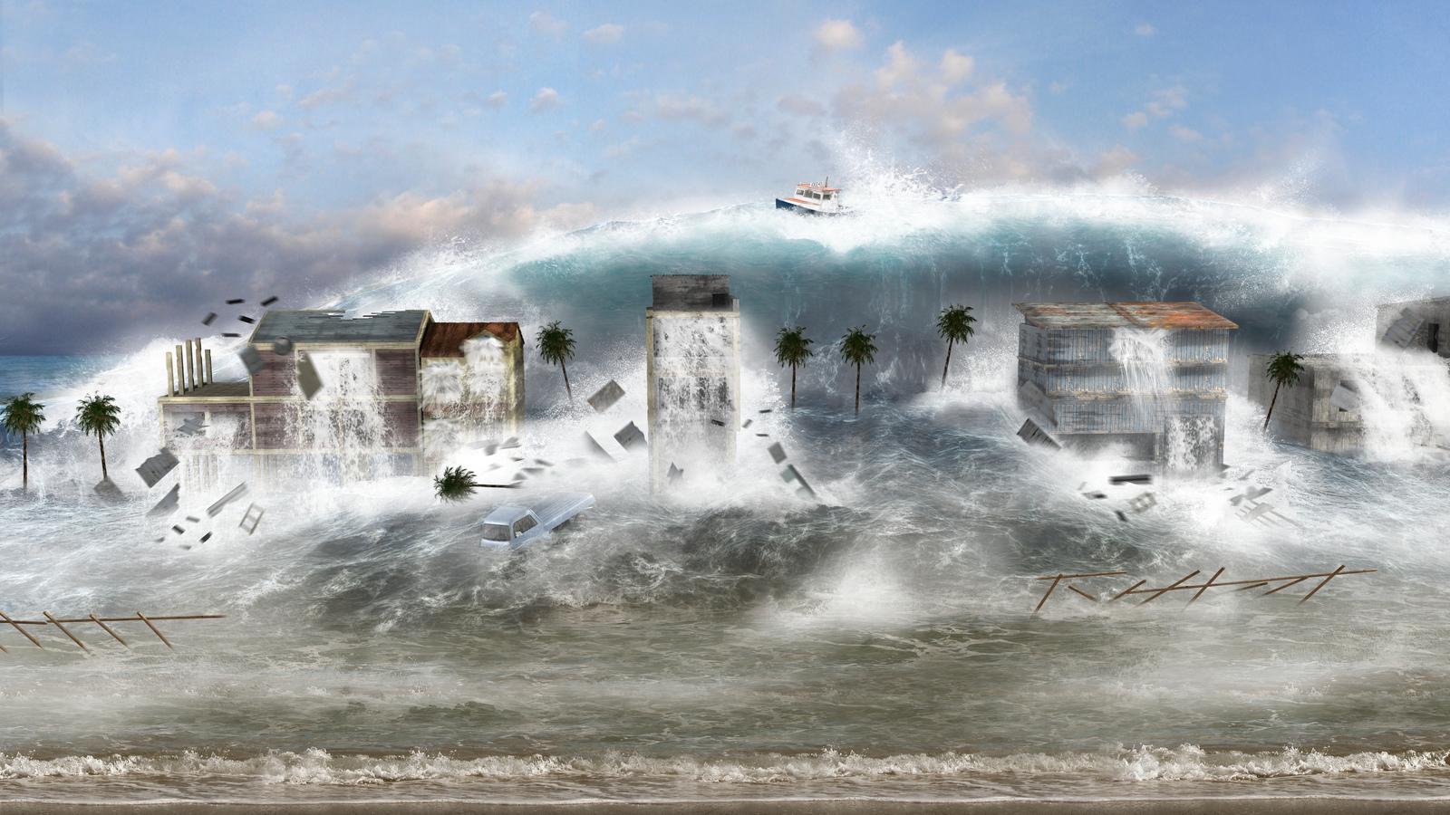 Tsunami Destruction Mega-Tsunami, W...