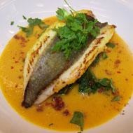 John dory with butternut squash soup good food channel for John dory recipe