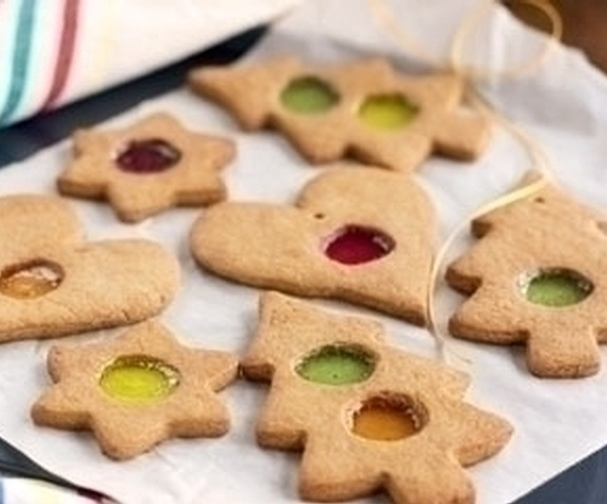 Christmas stained glass window biscuits   Good Food Channel