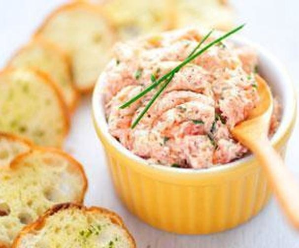 Smoked trout p t good food channel for Smoked trout canape