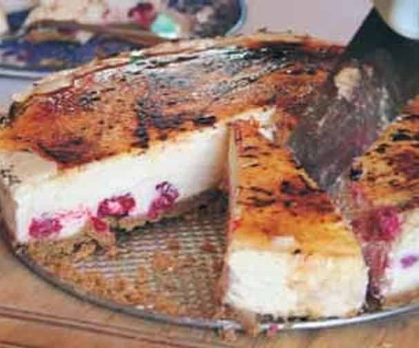 Raspberry brûlée cheesecake | Good Food Channel
