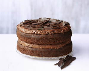 easy chocolate cake with ganache icing good food channel. Black Bedroom Furniture Sets. Home Design Ideas