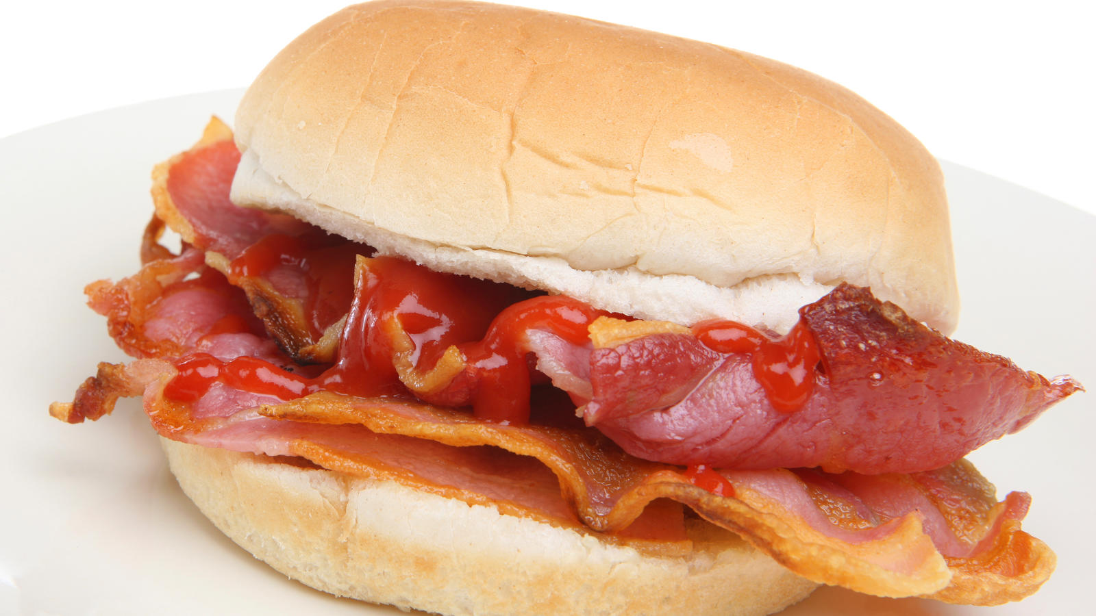 Spicy bacon butty | Good Food Channel