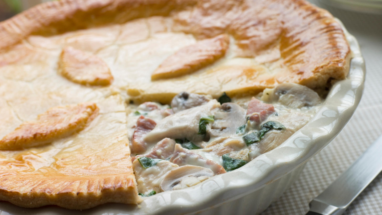 Chicken Pie with Ham and Peas | Good Food Channel