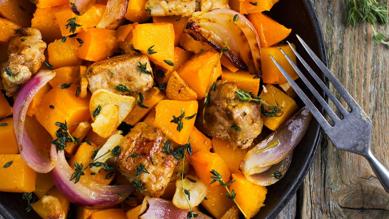 Spicy Roast Pumpkin Good Food Channel