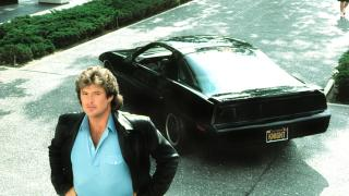 The Hoff in futuristic drama Knight Rider, from the past