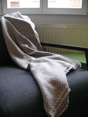 100% Cashmere Blankets with Herring Bone Patterns Brown color range