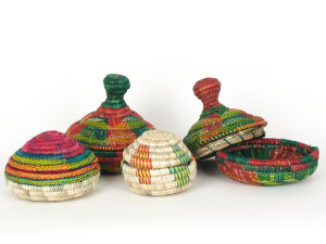 Handwoven Covered Baskets from Ethiopia