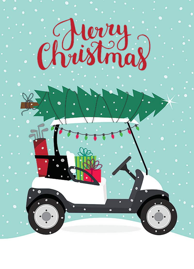 Open New USGA Holiday Cards - Golf christmas cards