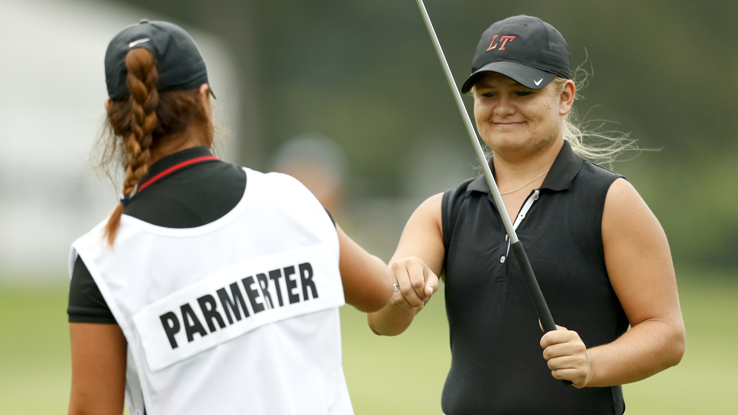 a par on the 10th hole, her first of the round. (usga/steven