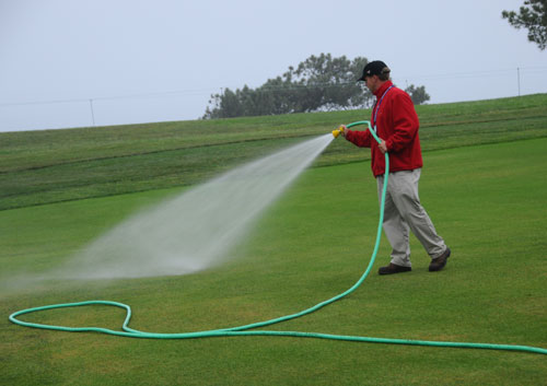 Why Do I See People Hand Watering The Golf Course When