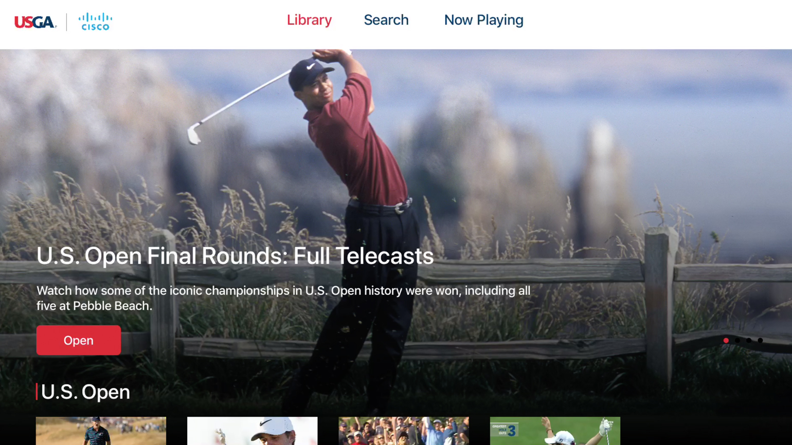 USGA Launches Over-The-Top App in Partnership with Cisco