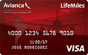 Avianca LifeMiles Visa Card Image