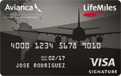 Avianca LifeMiles Visa Signature Card Image