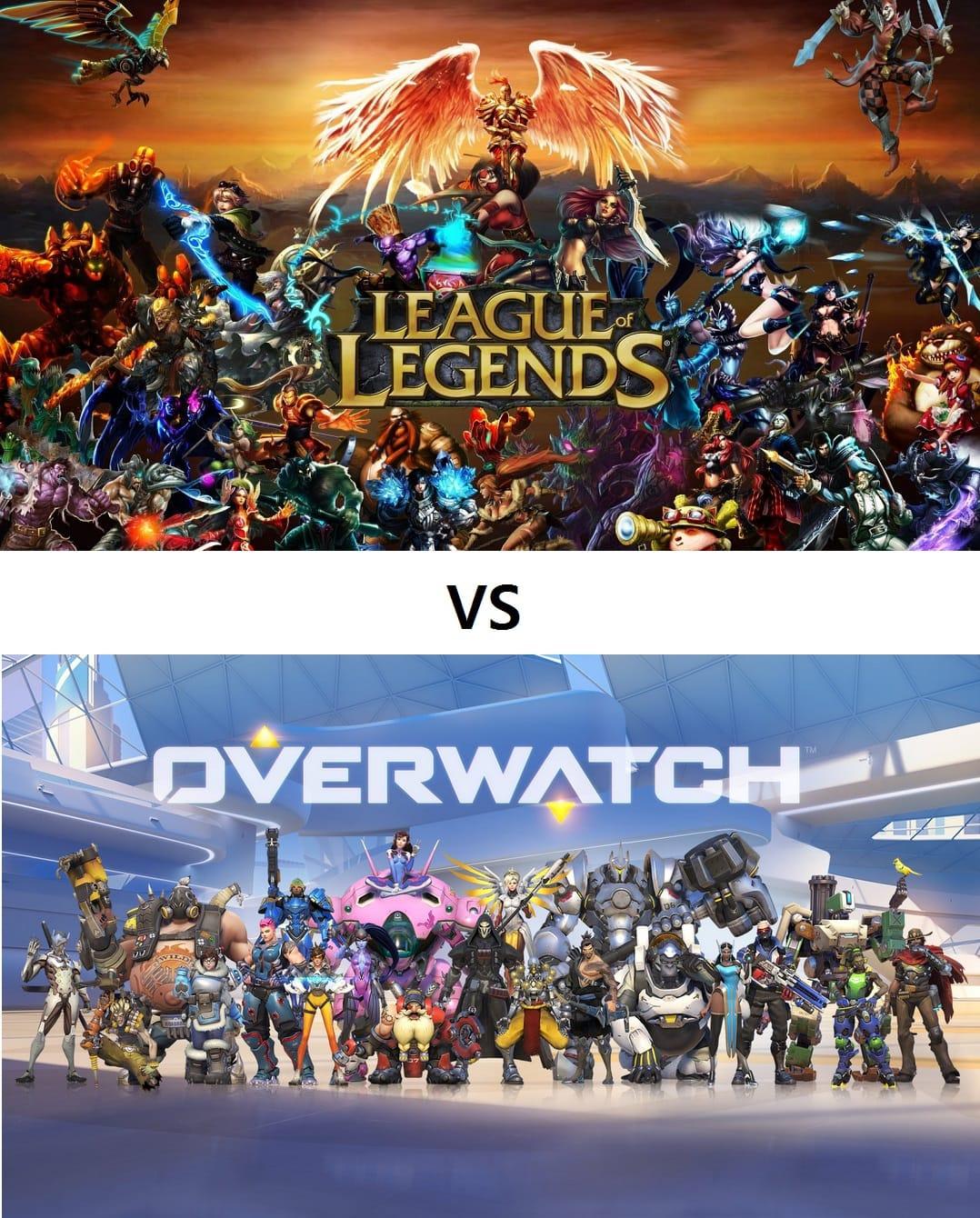 League of Legends vs Overwatch