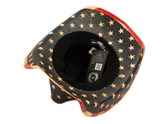 American Flag Cowboy Hat Shapeable Brim Distressed Vintage Classic USA Unisex