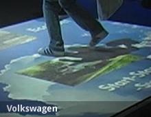VW Bluemotion – interaktive Bodenprojektion