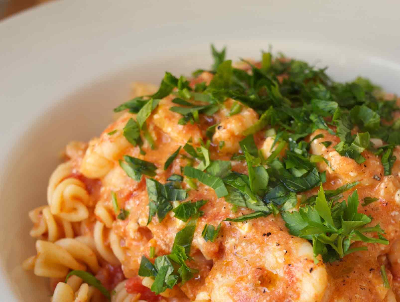 Shrimp, Tomato, and Feta Stew