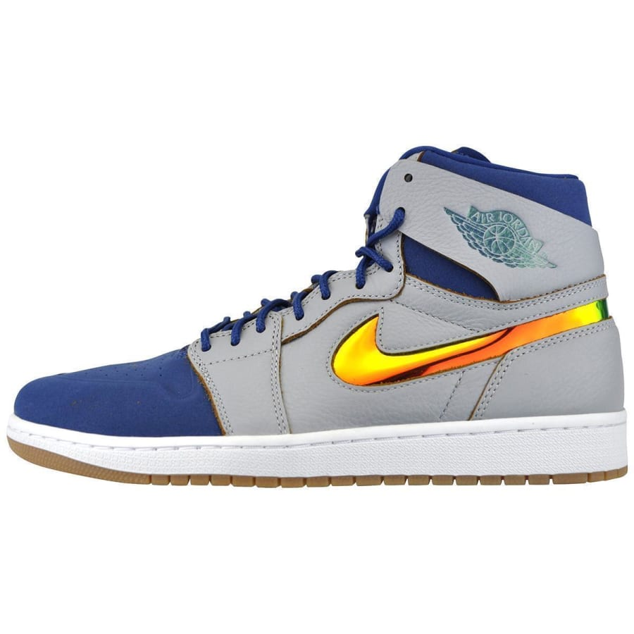 Nike AIR JORDAN 1 RETRO HIGH NOUVEAU Basketballschuhe Herren grau 40,5 819176-009