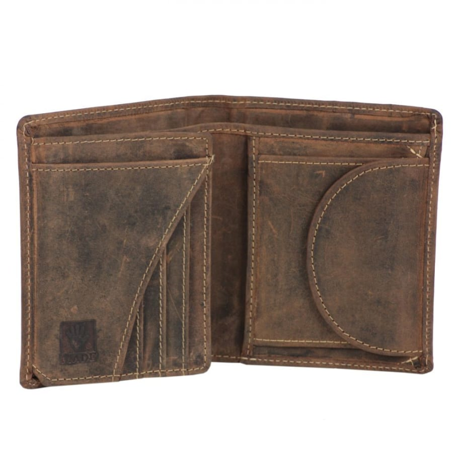 Vintage Geldbörse Leder 9,5 cm