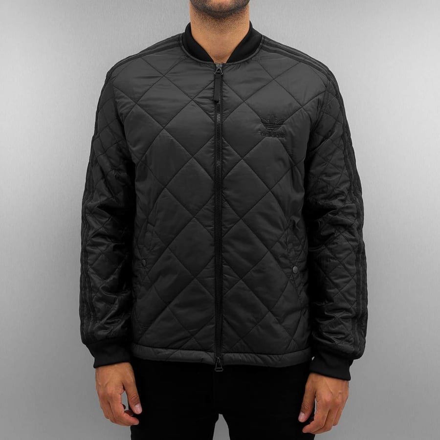 adidas Quilted Superstar Jacket Black