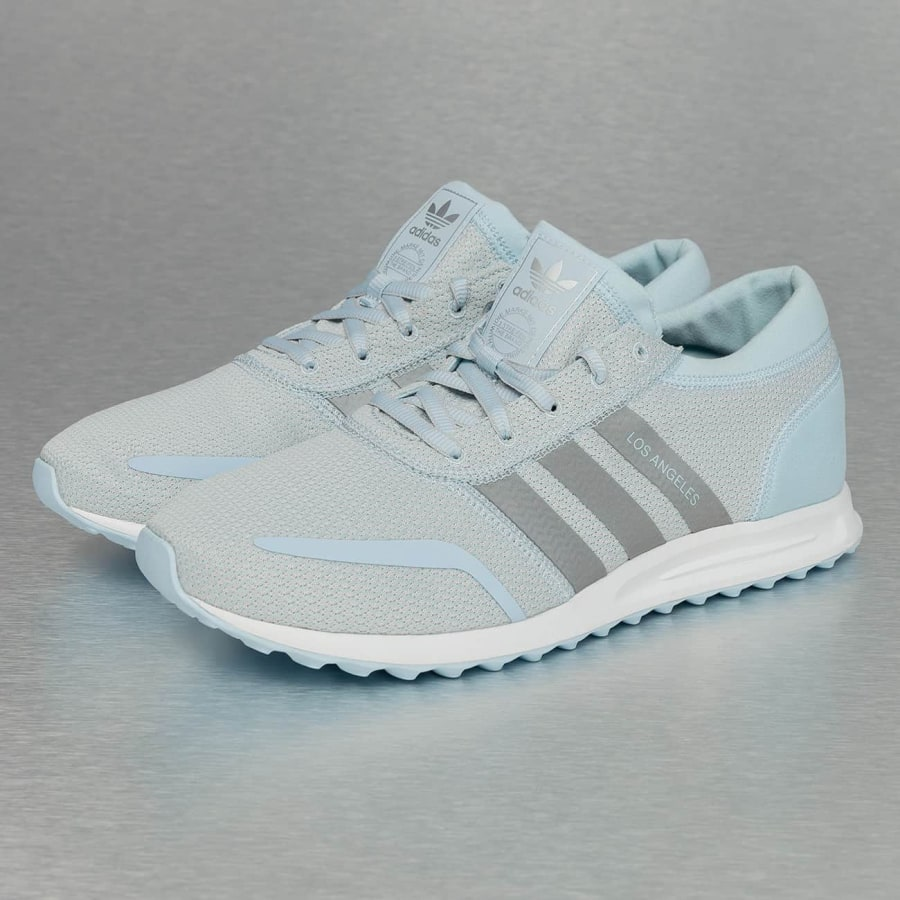 Adidas Los Angeles Sneakers Ice Blue-Silvermetalic-White