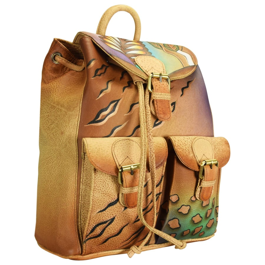 NATURE ART + CRAFT RUCKSACK LEDER 31 CM Damen