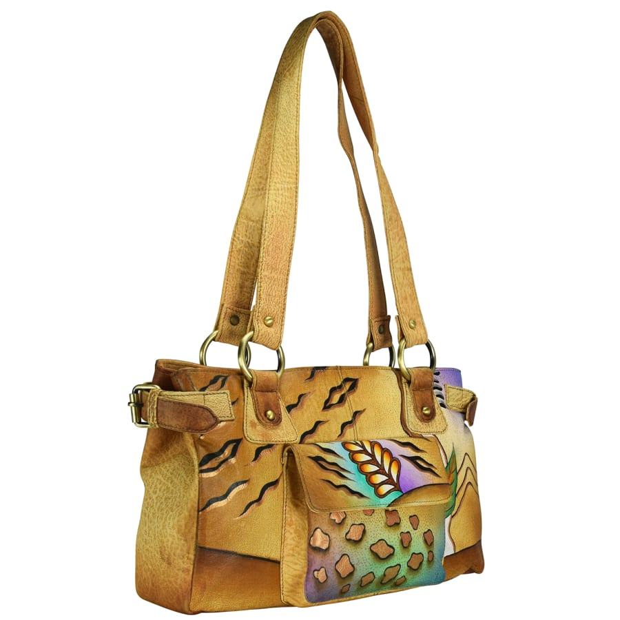 NATURE ART + CRAFT SHOPPER TASCHE LEDER 34 CM Handtasche Damen