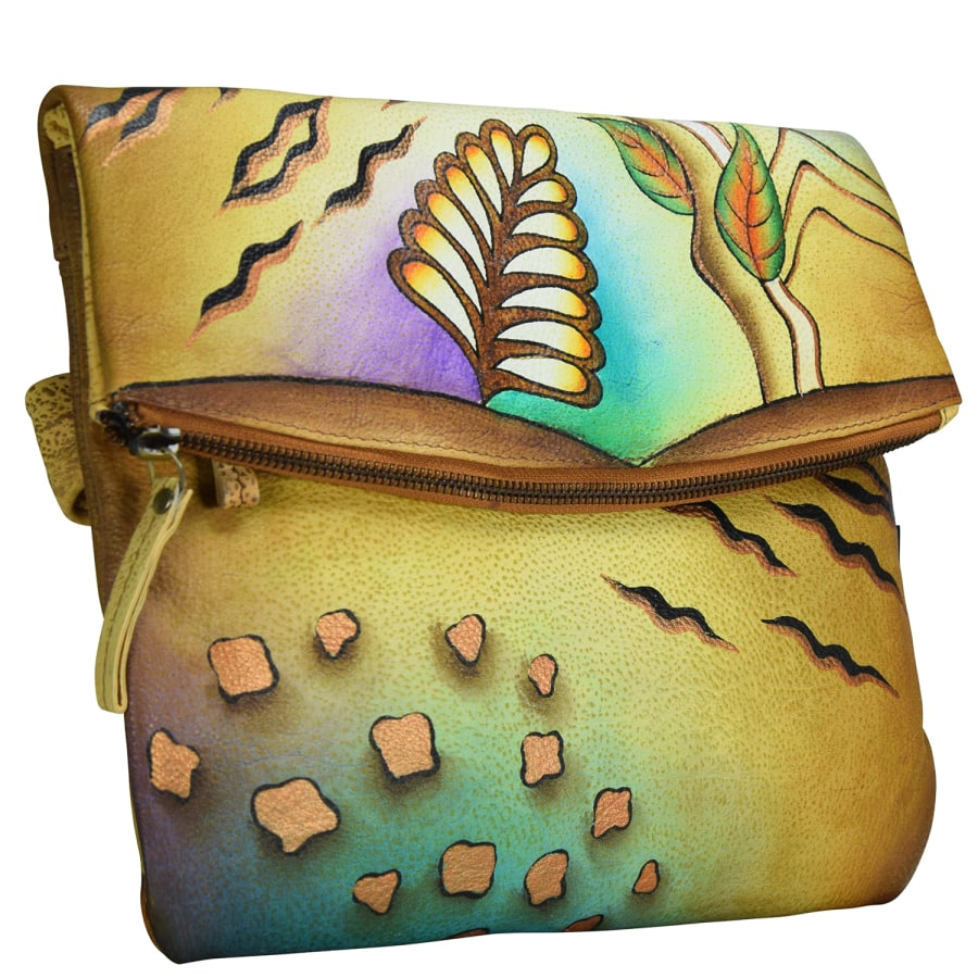 NATURE ART + CRAFT UMHÄNGETASCHE LEDER 28 CM Damen