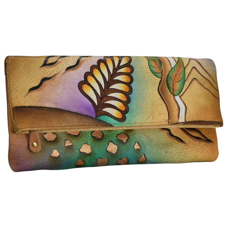 NATURE ART + CRAFT CLUTCH HANDTASCHE LEDER 30 CM Damen